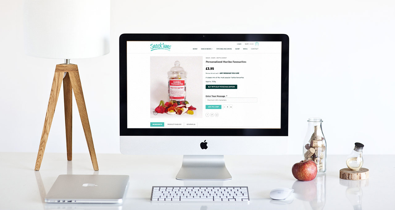 snack'ums product page